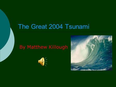 essay on tsunami 2004