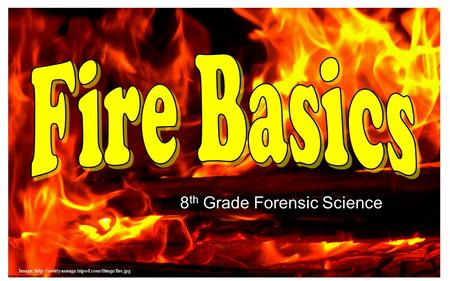 8 th Grade Forensic Science Image: