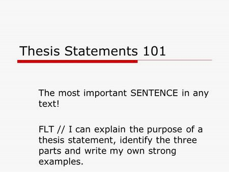 Thesis Statement Words
