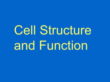 Cell Structure and Function. 1. 1–100µm 2. Why is there a limit to cell size? a. Surface-to-volume ratio b. Distance from surface to center Cell Size.