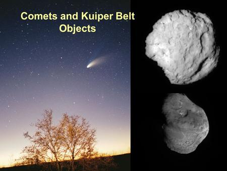 PTYS/ASTR 206Comets 4/24/07 Comets and Kuiper Belt Objects.