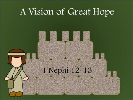 A Vision of Great Hope 1 Nephi 12-13. Insert Video Book of Mormon Restores Plain and Precious Things.