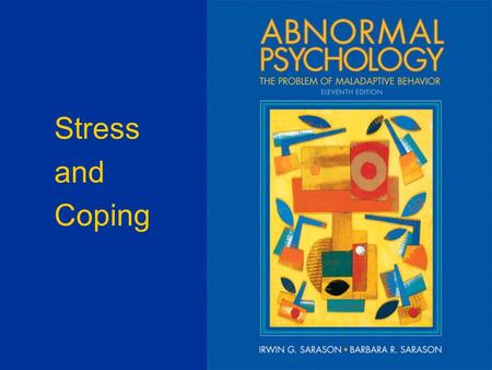 Stress and Coping. Richard Lazarus' Model of Stress Stressor (Environmental or Internal) Primary Appraisal (Stressor) Secondary Appraisal (Coping) Threat.