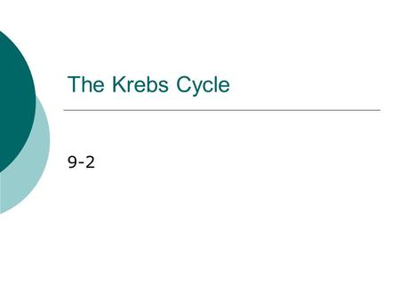 The Krebs Cycle 9-2.  At the end of glycolysis, about 90% of the chemical energy available in glucose is still unused  To extract the rest, cells need.