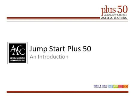 Jump Start Plus 50 An Introduction. 2 Presentation Slide Area Attendee List Chat Room.