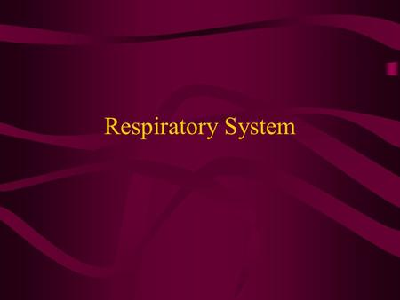 Respiratory System. Functions of the Respiratory System Breathing process Exchange of Oxygen and Carbon Dioxide Enable speech production.