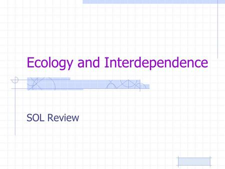 Ecology and Interdependence SOL Review. Populations of different organisms and the abiotic factors which affect them are known as a(n): 12345 A. community.