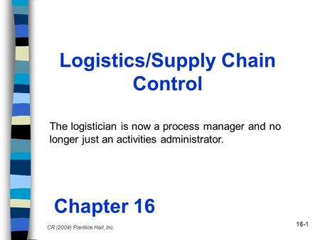 Logistics/Supply Chain Control