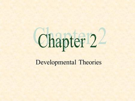 Developmental Theories. Theory: A Definition  A set of interrelated statements that provides an explanation for a class of events.