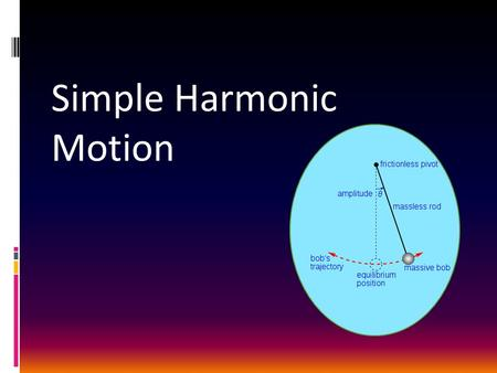 Simple Harmonic Motion. Periodic Motion  Acrobat on a trapeze  Child on a swing  Pendulum of a clock  Mass attached to a spring.