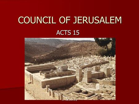Council Of Jerusalem ACTS 15
