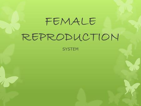 FEMALE REPRODUCTION SYSTEM. OVARIES  2 Functions  Release Estrogen & Progesterone  Release mature egg cells  Contain Ova or eggs  Female born with.