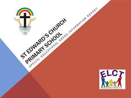 ST EDWARD'S CHURCH PRIMARY SCHOOL SPECIAL EDUCATIONAL NEEDS INFORMATION REPORT.