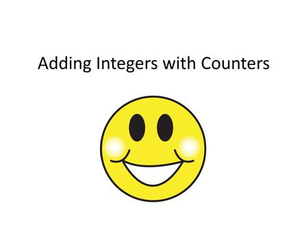 Adding Integers with Counters