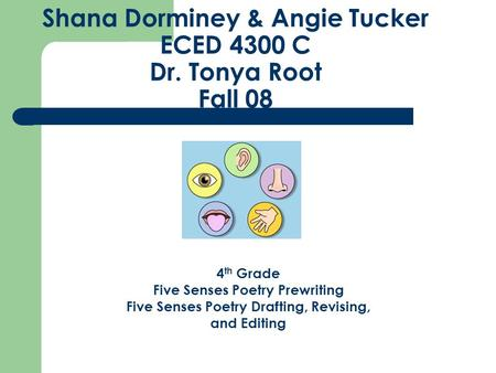 Shana Dorminey & Angie Tucker ECED 4300 C Dr. Tonya Root Fall 08