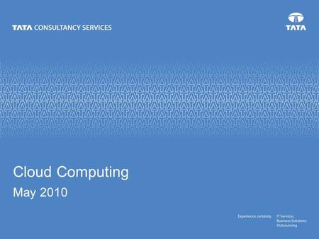 Cloud Computing May 2010. 11 November 2015 Author A bad book is as much of a labor to write as a good one; it come as sincerely from the author's soul.