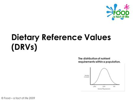 Dietary Reference Values (DRVs)