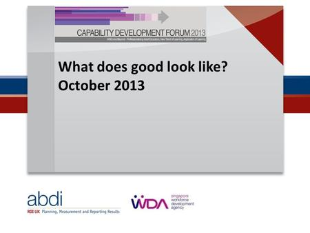 What does good look like? October 2013. Where's the greatest challenge? OBSERVABLE performance and behaviour indicators  Unacceptable, acceptable, exceptional.