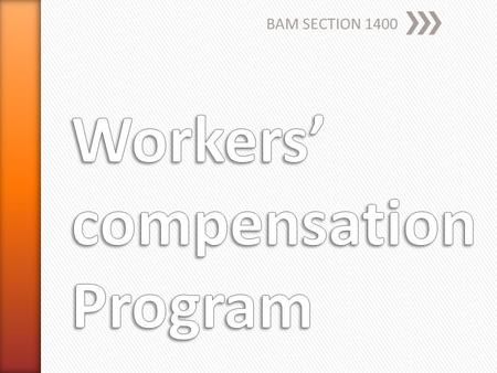 BAM SECTION 1400. » Every employer in CA » Including the STATE ˃Legally uninsured ˃Labor Code §3700 ˃Purchase a yearly policy ˃Participate in Master Agreement.