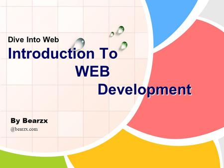 By Bearzx Dive Into Web Introduction To WEB