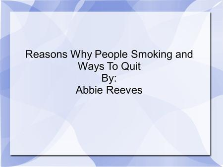 Why Do People Still Smoke Cigarettes?