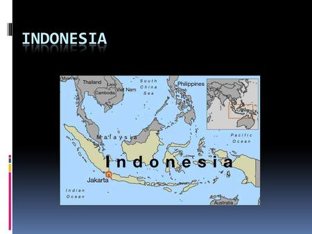 Geography  Indonesia comprises 17,508 island  With over 238 million people, it is the world's fourth most populous country  Across its many islands,