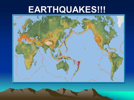 EARTHQUAKES!!!. Earthquakes Earthquake: Sudden movement of rock sliding along a fault in the earth's crust Releases energy as this occurs. Energy release.