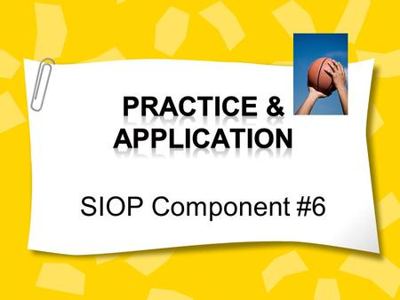 Before we begin….Let's do a quick review from last time In regards to SIOP, what does the clock symbolize? That's right! The SIOP model is comprised of.