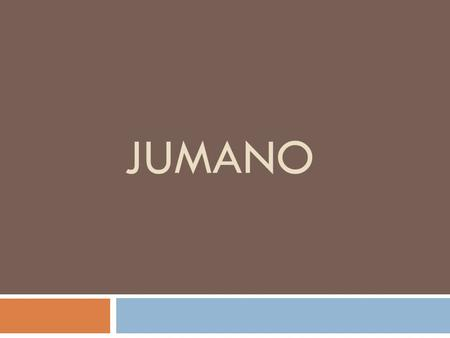 JUMANO. When you think of the mountains and basins… Think of the Jumano!