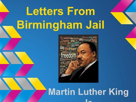 Letters From Birmingham Jail Martin Luther King Jr.