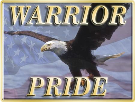 Warrior Pride Goals Provide a logo (Symbol) that Soldiers will identify with Army Values, the Warrior Ethos, and the Army Substance Abuse Program Standardize.