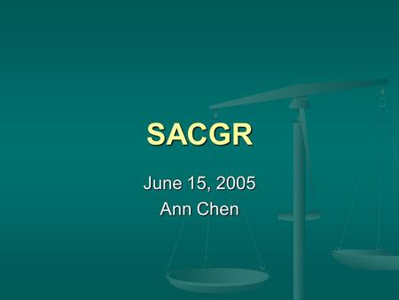 SACGR June 15, 2005 Ann Chen. History of Present Illness 31 yo male, residing at West Seattle Psychiatric Hospital, brought to HMC for fevers, chills,