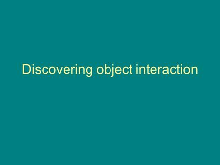 Discovering object interaction. Use case realisation The USE CASE diagram presents an outside view of the system. The functionality of the use case is.