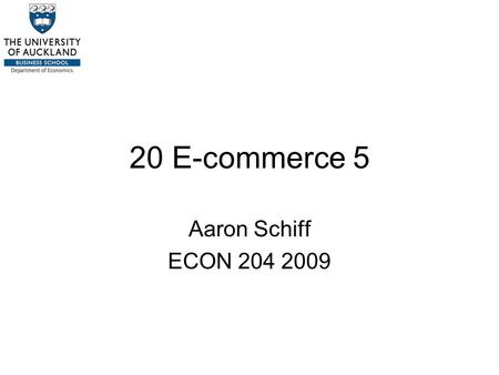 20 E-commerce 5 Aaron Schiff ECON 204 2009. Introduction Product differentiation is another strategy used extensively by firms in addition to or instead.