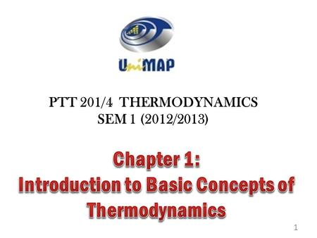 Introduction to Basic Concepts of Thermodynamics
