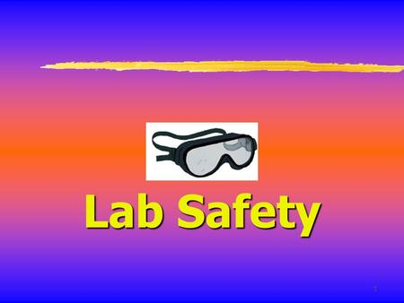 1 Lab Safety. 2 General Safety Rules 1. Listen to or read instructions carefully before attempting to do anything. Do not modify lab procedures unless.