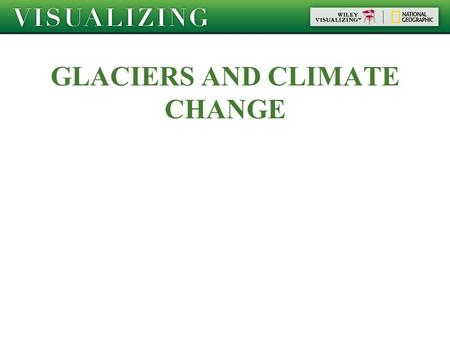 GLACIERS AND CLIMATE CHANGE. Objectives Distinguish between several different kinds of glaciers and ice formations. Describe how ice in a glacier changes.