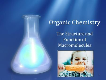 1 Organic Chemistry The Structure and Function of Macromolecules.