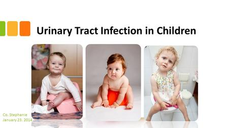 Urinary Tract Infection in Children Co. Stephanie January 23. 2014.