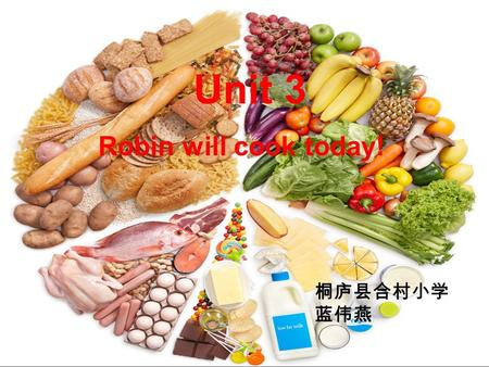 Unit 3 Robin will cook today! 桐庐县合村小学 蓝伟燕 My favourite food is... It is... They are...