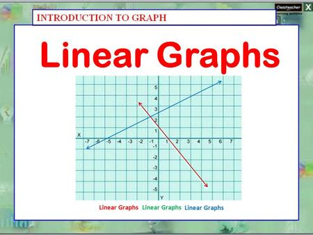 Linear Graphs Linear Graphs Linear Graphs Linear Graphs.