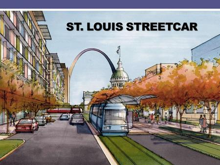 ST. LOUIS STREETCAR. St. Louis Streetcar www.facebook.com/STLstreetcar Goals and Objectives Increase population and employment in the corridors Increase.