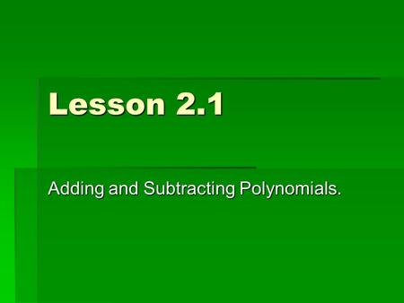Adding and subtracting polynomials worksheet glencoe