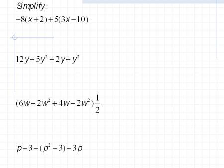 9.0 Classifying Polynomials Objective: SWBAT describe and write polynomials in standard form. Concept: Unit 9 – Polynomials and Factoring.