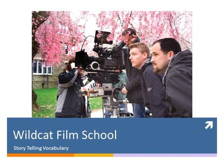  Wildcat Film School Story Telling Vocabulary. What's your favorite movie?