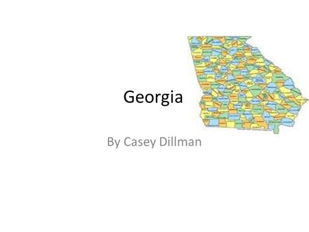 Georgia By Casey Dillman.