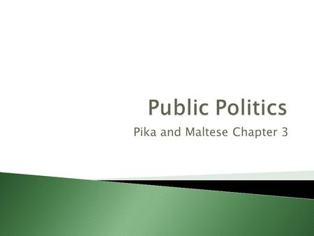 Pika and Maltese Chapter 3. People develop attitudes towards three major components of a political system: 1.Their political community 2.The political.
