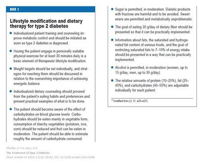 Pfeiffer, A F H; Klein, H H The Treatment of Type 2 Diabetes Dtsch Arztebl Int 2014; 111(5): 69-82; DOI: 10.3238/arztebl.2014.0069.