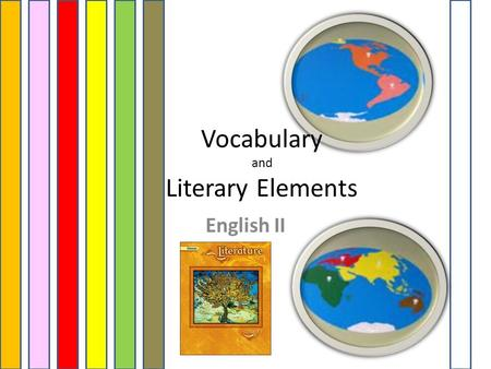 English II Vocabulary and Literary Elements. Unit 1 - Vocabulary and Literary Elements Study for Quizzes and Tests 1.Friendly Letter 2.Business Letter.