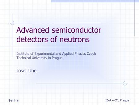 Advanced semiconductor detectors of neutrons
